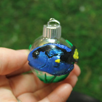Blue Tang fish Christmas Mini ornament