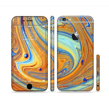The Colorful Wet Paint Mixture Sectioned Skin Series for the Apple iPhone 6/6s Plus