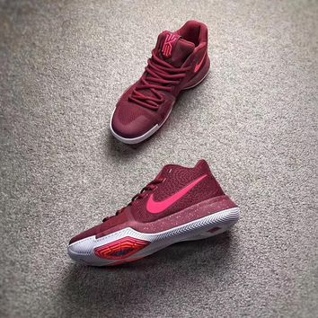 NIKE Kyrie 3 Red Men Basketball shoes