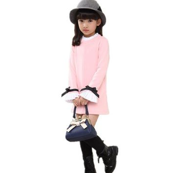 Fashion Girl T-Shirt Long Sleeve Autumn Toddler Children Clothing Infantil Baby Girls T Shirt Tutu Casual  Kids Clothes