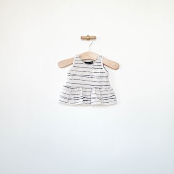 Peplum Tank in Bebe Stripe