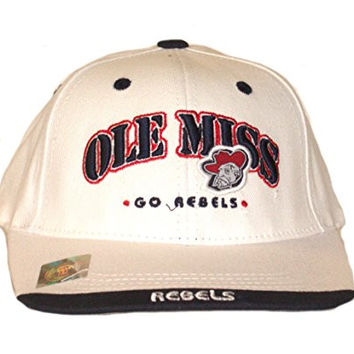 NCAA Officially Licensed Embroidered YOUTH Flatbill Baseball Hat Cap Lid (Ole Miss Rebels)