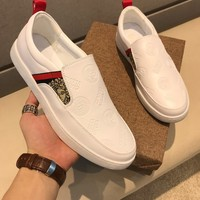 Versace X Supreme Slip On White Sneakers Dsu6797 - Best Online Sale