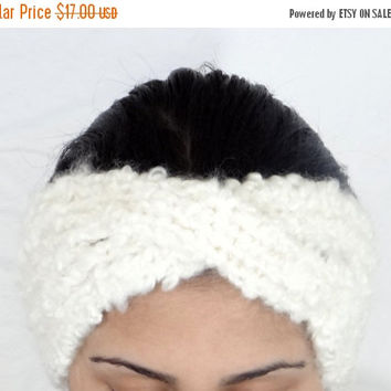 SALE White Thick Headband Ear Warmer White Earwarmer Head Band White Ear Warmer Headband Hair Accessories White Beauty Accessories Headband