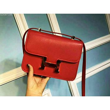 Hermes  Leather Handbag Tote Satchel Shoulder Bag