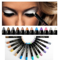 Eyeshadow Metallic Shimmer Glitter Eye Color Pencil in 12 Trendy Colors