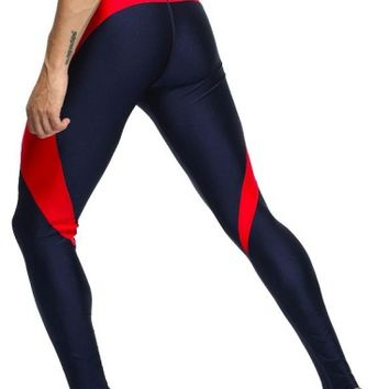 Navy Blue Leggings, Spandex Leggings, Tights For Men