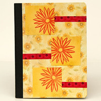 Flowers Journal,Yellow Notebook, Altered Composition Book, Garden Journal, Morning Pages