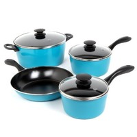 Sunbeam 91504.07 Armington 7-Piece Cookware Set, Teal:Amazon:Kitchen & Dining