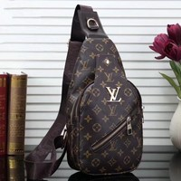 LV Louis Vuitton Woman Men Fashion Leather Crossbody Single Shoulder Bag-4