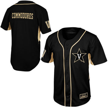 Vanderbilt Commodores Youth Fielder Baseball Jersey - Black - http://www.shareasale.com/m-pr.cfm?merchantID=7124&userID=1042934&productID=540322243 / Vanderbilt Commodores