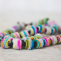 Multi color necklace - colorful artisan boho
