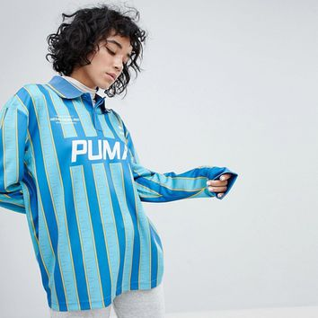 Puma Exclusive To ASOS Football Jersey In Blue at asos.com