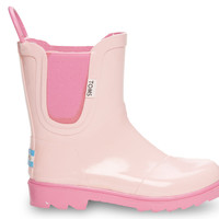 TOMS Pink Youth Rain Boots Pink