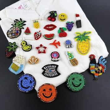 Chinese small commodity fruit pattern decoration patch stickers Beading Applique Shirt Shoes Bags Apparel DIY Decoration Patches