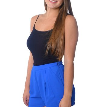 High Waisted Shorts - Royal