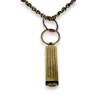 Secret Capsule Brass Necklace - Capsule Container Pendant  Secret Stash, Cremation Jewelry