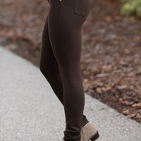 Perfect Fit Jeggings Brown