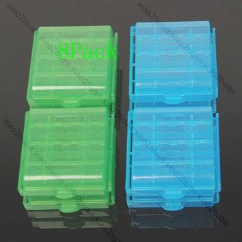New Arrival for  hot! 8 X Hard Plastic Case Holder for Storage Box AA AAA Battery