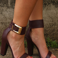 The Best Of Me Heels: Maroon