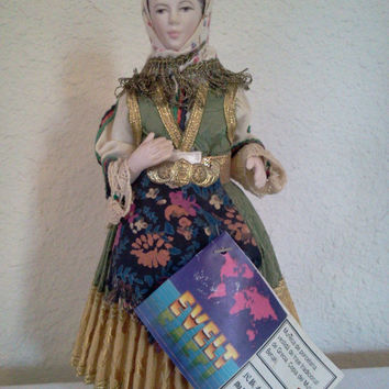 Vintage Porcelain Doll Greek