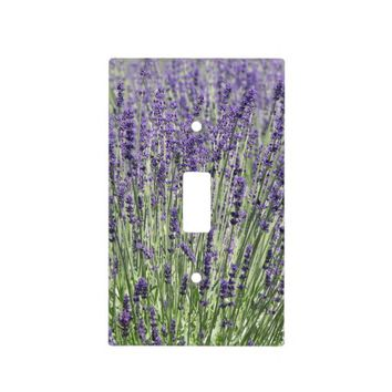 Lavender Light Floral Photo Switch Plate Cover