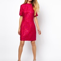 ASOS Jacquard High Neck Dress