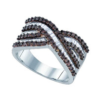 Diamond Fashion Ring in Sterling Silver 1.23 ctw