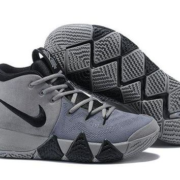 DCCK Nike Men's Kyrie Irving 4 Wolf Grey Basketball Shoes US7-12