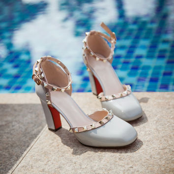 Design Stylish Summer Korean Metal Shoes Plus Size Sandals [4920246340]