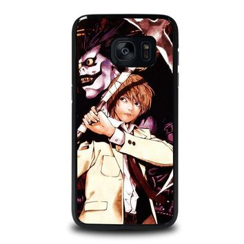 death note ryuk and light samsung galaxy s7 edge case cover  number 1