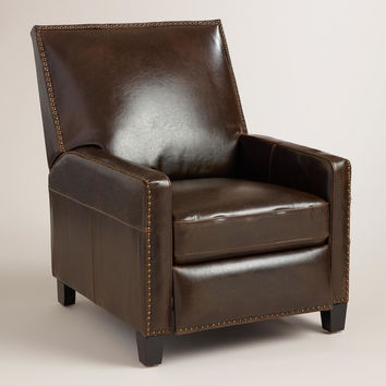 Bi-Cast Leather Bellamy Recliner - World Market