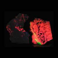 Black Franklinite Tan Willemite White Calcite and Pink Rhodonite Franklin New Jersey Fluorescent Glow Stone Mineral Slice Rock Slab