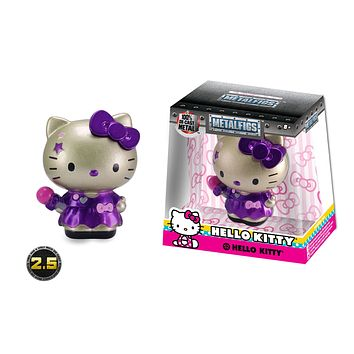 "Jada Diecast Metal  2.5"" Hello Kitty Set- Silver Gold Pink Figure"