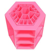 360 ?Rotating Makeup Case Lipstick BB Cream Cosmetic Organizer Box