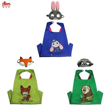 70*70 cm Child rabbit fox animal cosplay cloak cape mask paw for girl fancy costume dress-up brand gift masque Christmas cape