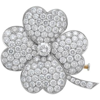 Van Cleef & Arpels White Gold and Diamond Cosmos Clip Pendant