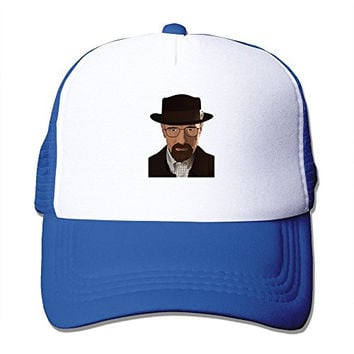Casual Adult Unisex Breaking Bad Heisenberg 100% Nylon Mesh Caps One Size Fits Most Adjustable Leisure Hat