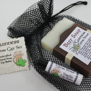 Guinness Gift Set - Beer Soap & Lip Balm - Perfect Beer Lover Gift for Parties, Birthdays and Groomsmen