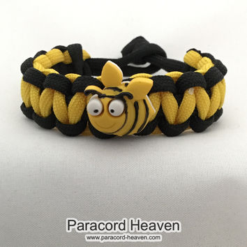 Eli the Bumblebee - Children Paracord Heaven Survival Bracelet with Knot Closure