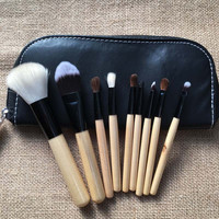 Beauty Hot Deal Hot Sale On Sale Make-up Makeup Brush Sets 9-pcs Wool Zippers Portable Make-up Brush [9647072527]