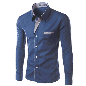 Button Up Mens Slim Shirt