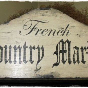 Vintage Sign FRENCH COUNTRY MARKET Large 15 x by mypaintedporch1