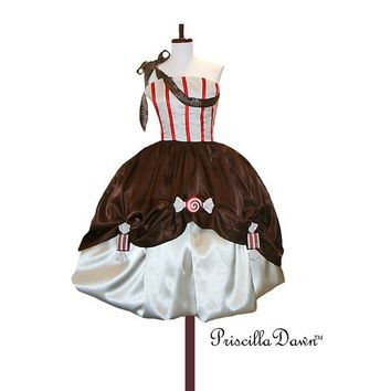SALE Candy Chocolate Dipped Dress by priscilladawn on Etsy