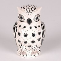 Black & White Owl Cookie Jar | Kirkland's