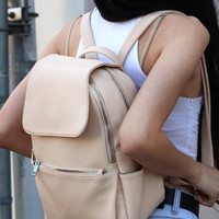 MINI CREAM BACKPACK