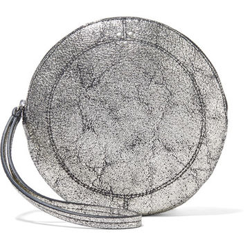 Jérôme Dreyfuss - Popoche O metallic cracked-leather clutch