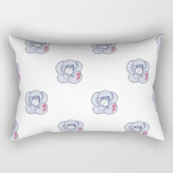 Denim Rose Rectangular Pillow by drawingsbylam