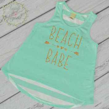 Beach Babe Shirt Summer Vacation Shirt Beach Shirt Toddler Girl Clothes Kids Beach Shirt Baby Girl Clothes Summer T-Shirt Spring Break 245