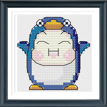 Cross Stitch Pattern, Cross Stitch, Counted Cross Stitch, Cross Stitch Chart, Xstitchpatterns, Cross Stitch Penguin 610289